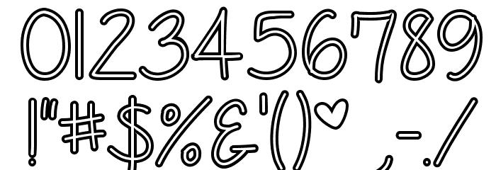 Anjelika Rose Hollow Font OTHER CHARS