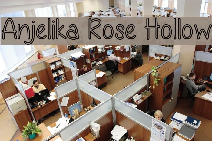 Anjelika Rose Hollow Font examples