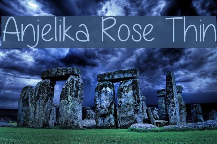 Anjelika Rose Thin Font examples