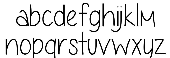 Anjelika Rose Thin Font LOWERCASE