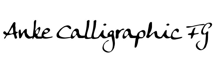 Anke Calligraphic FG  baixar fontes gratis