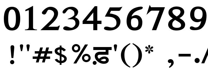 AnmolLipi Bold Шрифта ДРУГИЕ символов