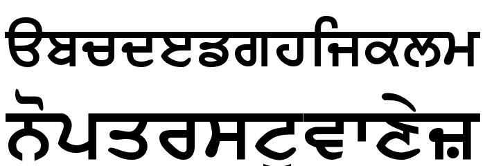 AnmolLipi Bold Шрифта строчной