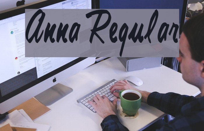 Anna Regular फ़ॉन्ट examples