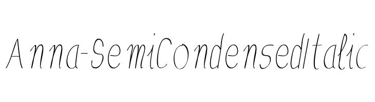 Anna-SemiCondensedItalic  Free Fonts Download