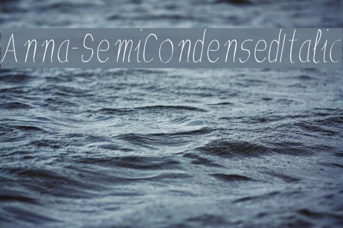 Anna-SemiCondensedItalic Fuentes examples