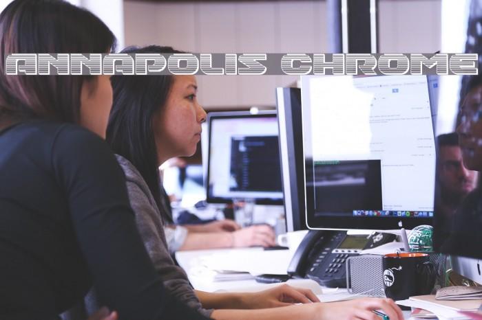 Annapolis Chrome फ़ॉन्ट examples