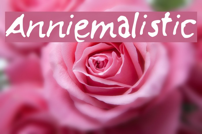 Anniemalistic Шрифта examples