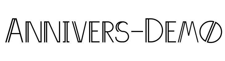 Annivers-Demo  Free Fonts Download