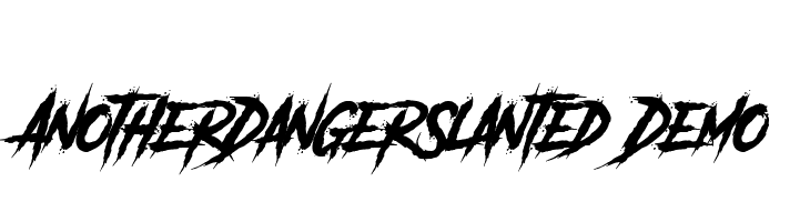 Another Danger Slanted - Demo  Free Fonts Download