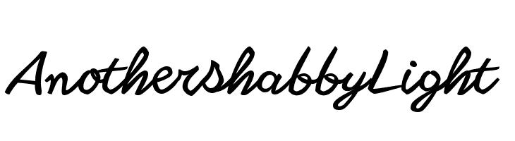 Another shabby Light  Скачать бесплатные шрифты