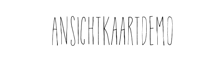AnsichtkaartDEMO  baixar fontes gratis