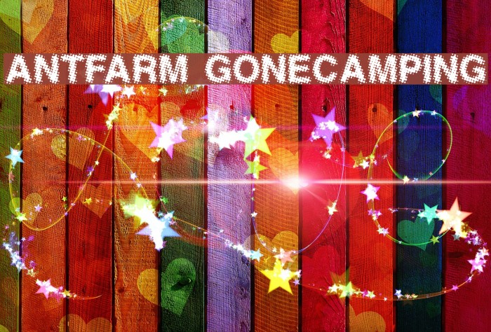 AntFarm GoneCamping Font examples
