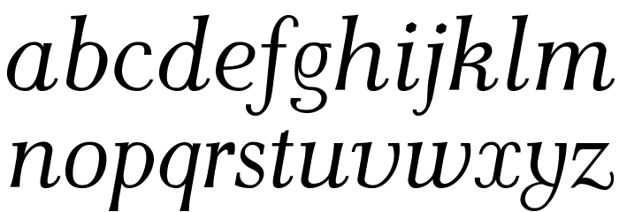 AntPoltLt-Italic Шрифта строчной