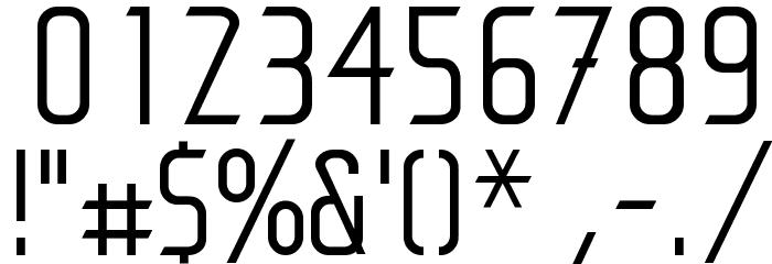 Antartic Шрифта ДРУГИЕ символов