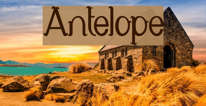 Antelope Font examples