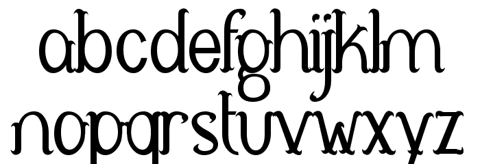 Antelope Font LOWERCASE