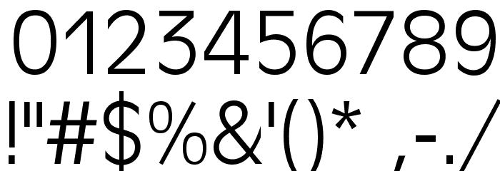 Antigoni Light Font OTHER CHARS