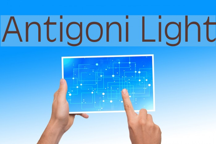 Antigoni Light 字体 examples