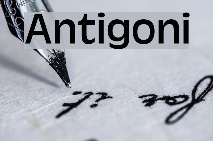 Antigoni 字体 examples
