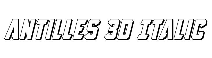 Antilles 3D Italic  Free Fonts Download