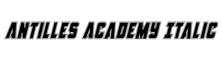 Antilles Academy Italic  Free Fonts Download