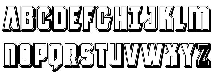 Antilles Engraved Font UPPERCASE