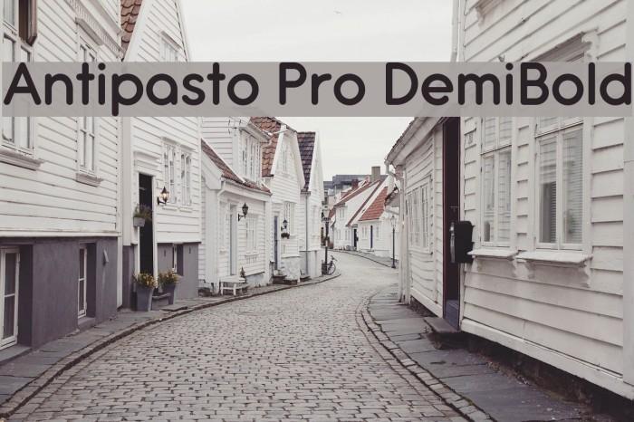 Antipasto Pro DemiBold Schriftart examples