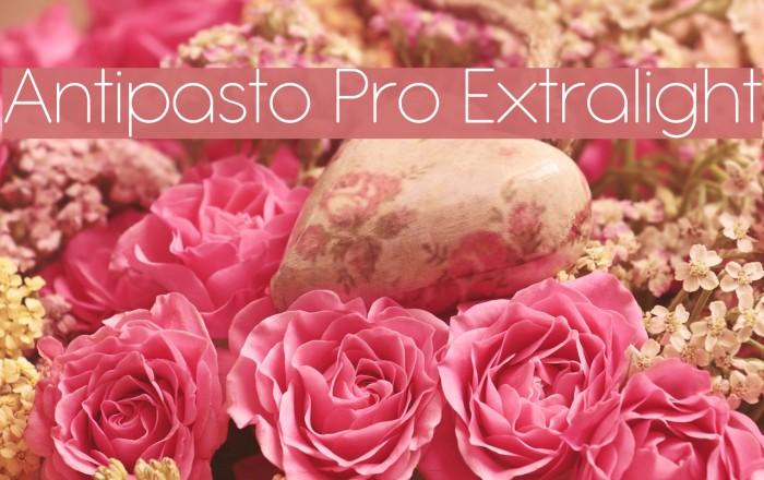Antipasto Pro Extralight Schriftart examples