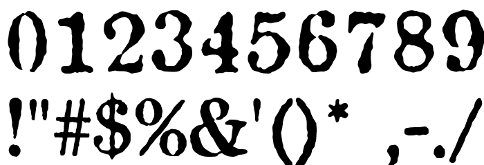 Antique Type Font OTHER CHARS