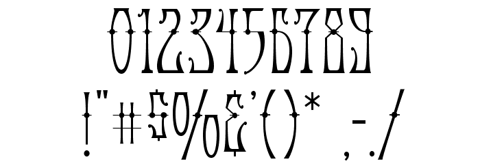 AntiqueAndroid-Regular Font OTHER CHARS