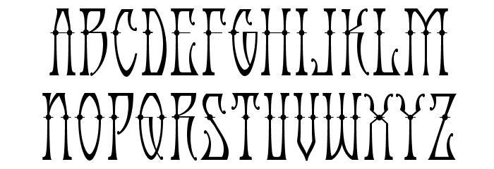 AntiqueAndroid-Regular Font LOWERCASE