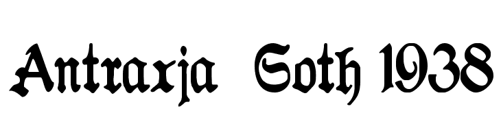 Antraxja  Goth 1938  Free Fonts Download