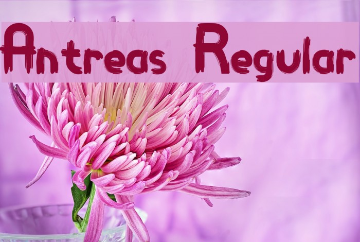 Antreas Regular Шрифта examples