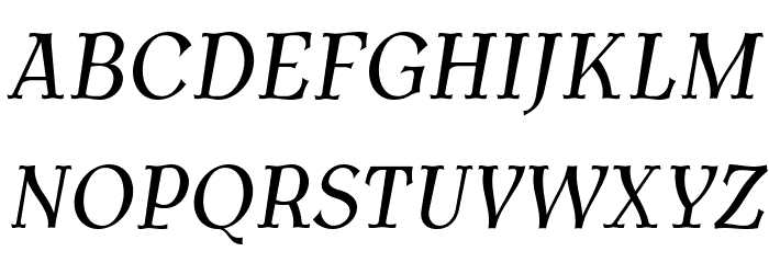 AntykwaTorunskaCond-Italic Шрифта ВЕРХНИЙ