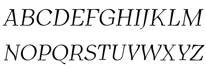 AntykwaTorunskaLight-Italic Шрифта ВЕРХНИЙ