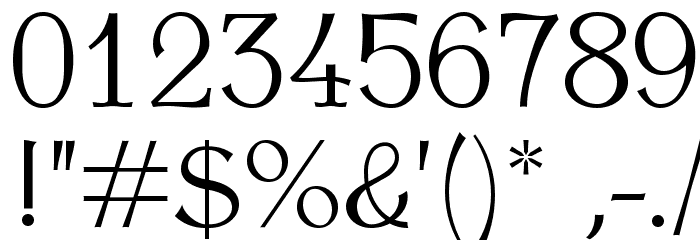 AntykwaTorunskaLight-Regular Шрифта ДРУГИЕ символов