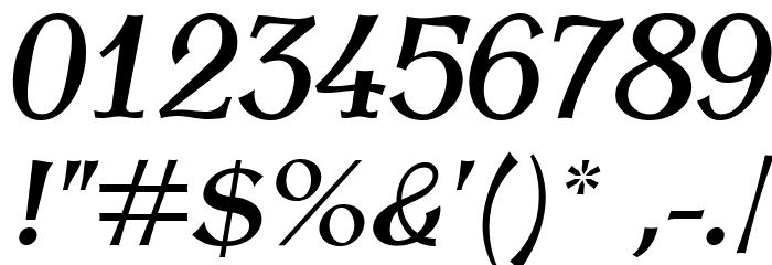 AntykwaTorunskaMed-Italic Шрифта ДРУГИЕ символов