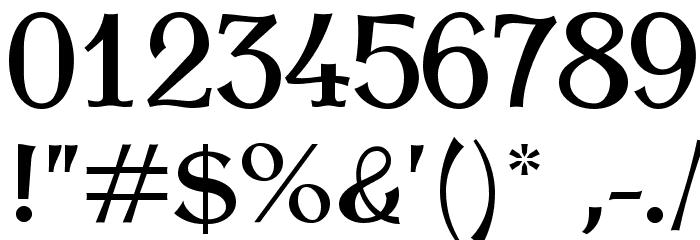 AntykwaTorunskaMed-Regular Шрифта ДРУГИЕ символов