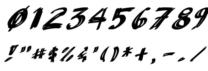 AnuDaw Italic Fonte OUTROS PERSONAGENS