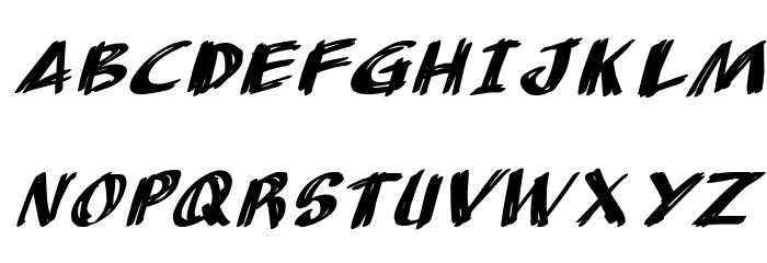 AnuDaw Italic Fonte MAIÚSCULAS