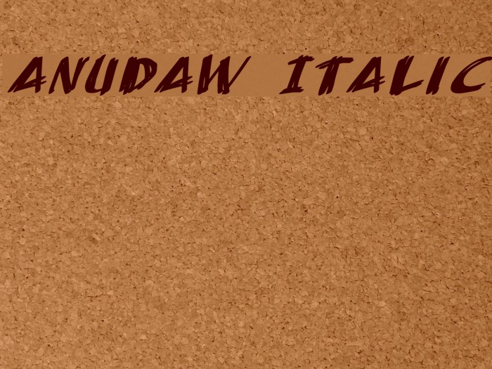 AnuDaw Italic Fonte examples
