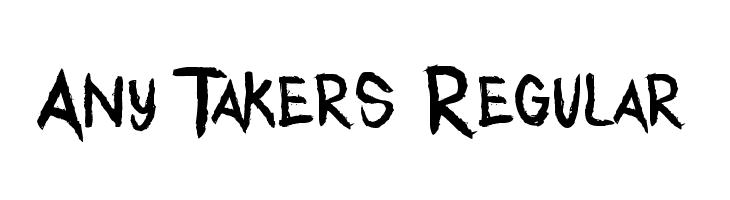 Any Takers Regular  les polices de caractères gratuit télécharger