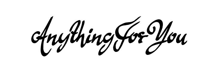 Anything For You  baixar fontes gratis