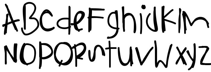 AnythingIsPossible Font UPPERCASE