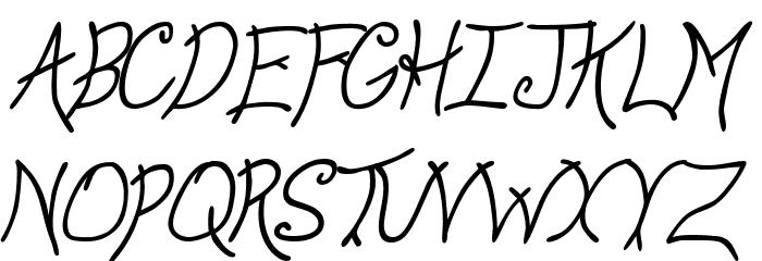 Anyway Italic Font UPPERCASE