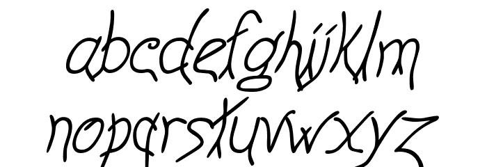 Anyway Italic Font LOWERCASE