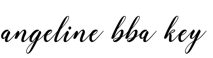 angeline bba key  Free Fonts Download