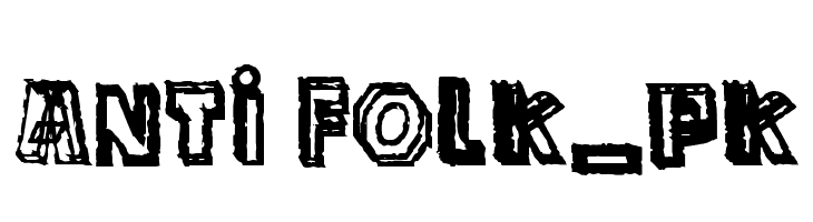 anti folk_pk  Free Fonts Download