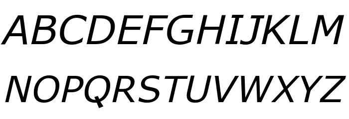 APHont Italic Font UPPERCASE